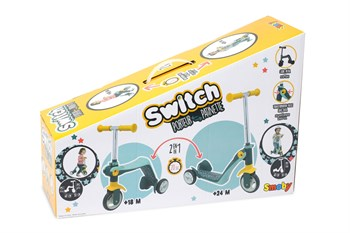 Smoby Reversible 2'si 1 Arada Scooter 750612Smoby